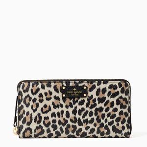 🎁 Kate Spade Leopard Grove Street Neda Wallet